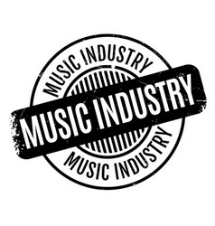 Music industry rubber stamp vector