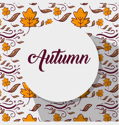 Natural autumn weather season leaves background vector