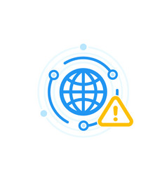 Network alert warning icon vector