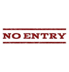 No Entry Watermark Stamp vector