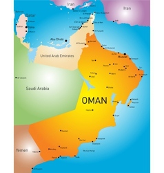 Oman country vector