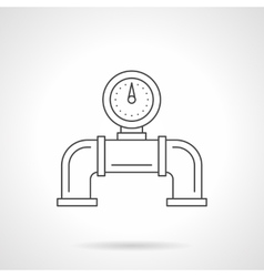 Pipeline gauge flat line icon vector image
