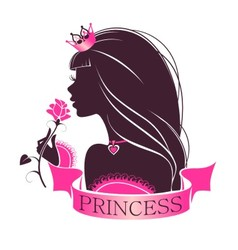 Portrait of a Princess with rose vector image
