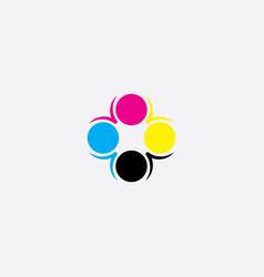 print mark icon logo cmyk symbol vector image