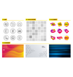 quick tips bus and web analytics icons mail vector image
