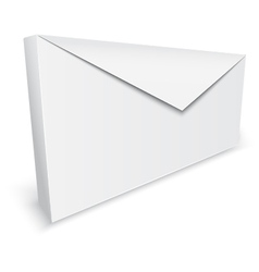 Realistic envelope background vector