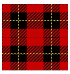 Red Seamless Tartan Plaid Design vector image