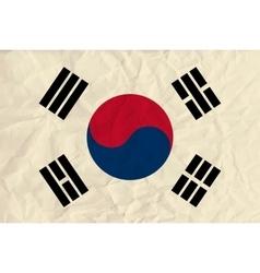 republic korea paper flag vector image