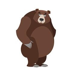 Sad bear mournful Grizzly tragic wild animal Large vector image