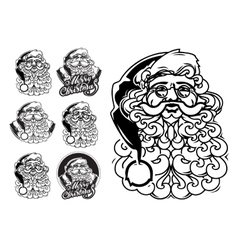 Santa Claus hand drawn llustration sketch vector image