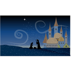Scene jesus christ nativity baby christian holy vector