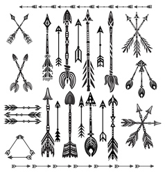 Set of ethnic tribal arrows vector image
