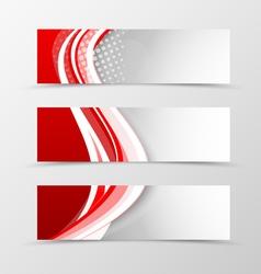 Set of header banner wavy design vector