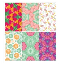 Set of seamless patterns Dymkovo Buttons Candy vector image