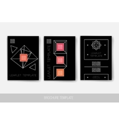 Set of Trendy Abstract Cards with Mystic Logos vector image