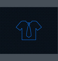 Shirt with tie sign icon clothes symbol vector