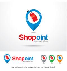 Shop point logo template vector