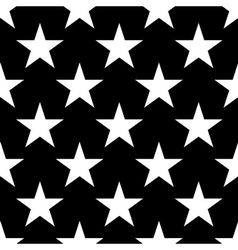 Stars seamless pattern big white vector