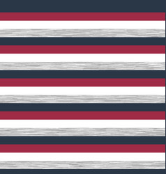 Striped heather marl navy red white athleisure tee vector