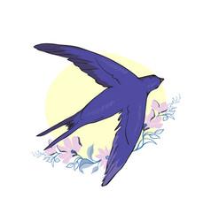 Swallow isolated bird bird flying bird vector