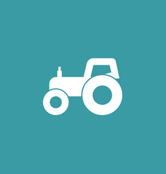 tractor icon simple gardening element symbol vector image