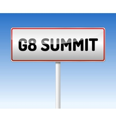 Traffic board Summit G8 vector