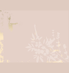 Trendy chic nude pink gold blush background for vector