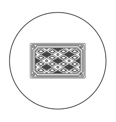 turkish carpet icon in outline style isolated on vector image vector image