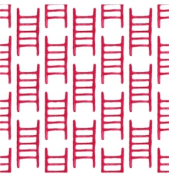 Watercolor seamless pattern with fire ladder on vector