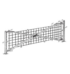 Wire gate sturdy and secure gate vintage engraving vector