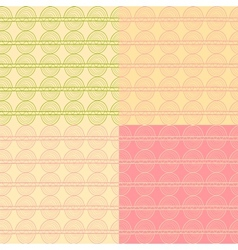 Abstract seamless pattern set in delicate colors vector image vector image