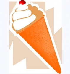 icecream cone vector image vector image