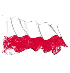 Poland National Flag Grunge vector image vector image