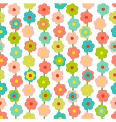 Retro Seamless Pattern With Small Flowers vector image vector image