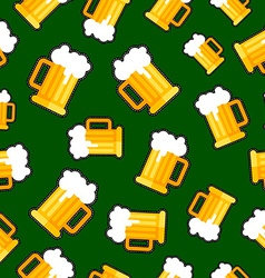 Seamless background with beer patch designs vector image vector image