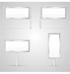 Set of blank City Light vector image