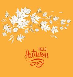 Autumn leaves card vector