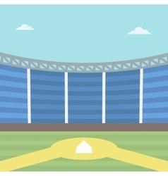 Background of baseball stadium vector image vector image