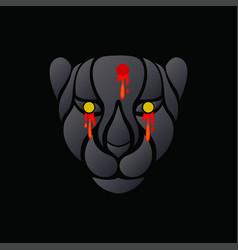 black tiger logo icon design vector image
