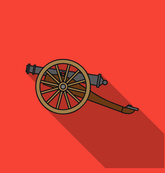 cannon icon in flat style isolated on white vector image