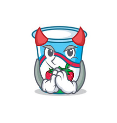 devil yogurt mascot cartoon style vector image vector image