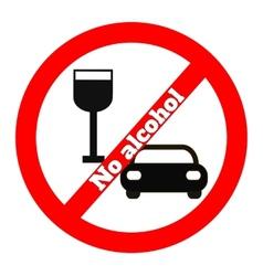 No alcohol icon vector image vector image