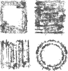 Set Of Grunge Frame vector image