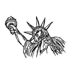 statue of liberty - sketch hand vector image vector image