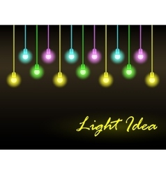 Abstract background with glowing lights vector image