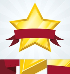 Best Ranked Star Review Banner vector image vector image