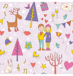 Pattern Valentines Day vector image vector image