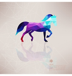 triangle horse Abstract horse of geometric shapes vector image vector image