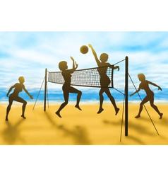 Volleyball women vector