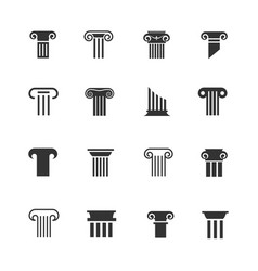ancient greek and roman column icons vector image